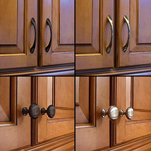 Super tip thursday one way to change the look of your for Kitchen cabinets handles ideas