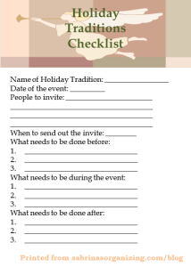 party planner online checklist
